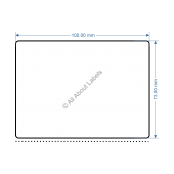 100mm x 73mm TTP Labels - 82114