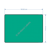 100mm x 73mm Green Labels - 82198