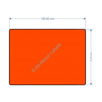 100mm x 73mm Orange Labels - 82196