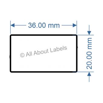 36mm x 20mm Nursery Synthetic Bopp Labels - 97NS3620(25)