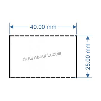 40mm x 25mm White TT Data Strip - 81050