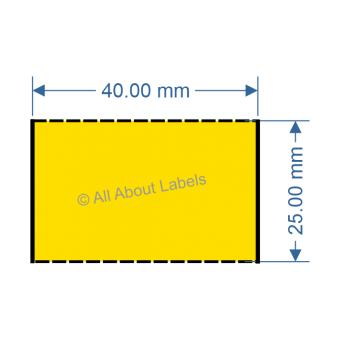 40mm x 25mm Yellow TT Data Strip - 81051