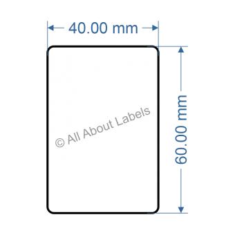 40mm x 60mm Nursery Synthetic Bopp Labels - 97NS4060(25)