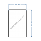 49mm x 76mm Scale Label - 82015
