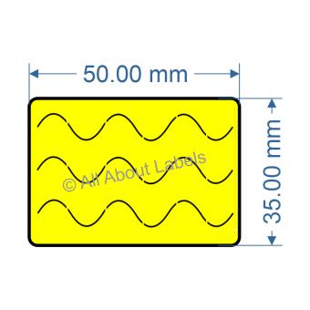 50mm x 35mm Bunnings Nursery Label - 97NS5035BUN-Y(38)