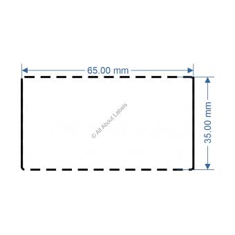 65mm x 35mm White DT Data Strip - 82047