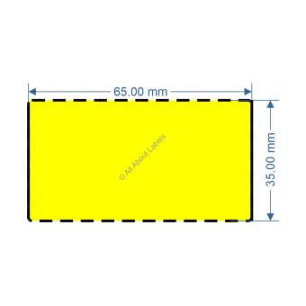 65mm x 35mm Yellow DT Data Strip - 82048