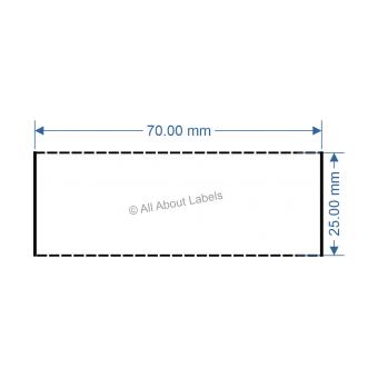 70mm x 25mm White DT Data Strip - 81046