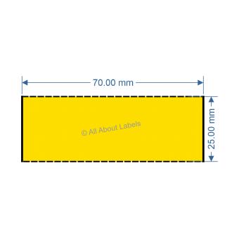 70mm x 25mm Yellow DT Data Strip - 81047