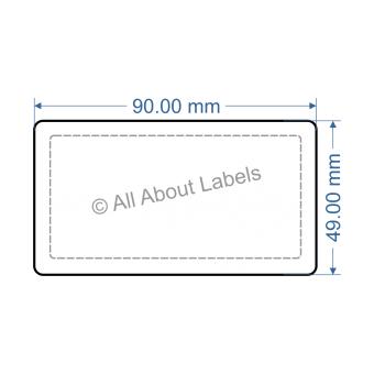 90mm x 49mm Nursery Synthetic Bopp Labels - 97NSSP9049(38)